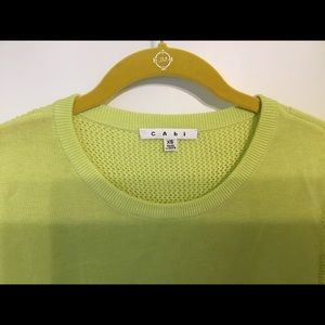 CAbi spring green sweater.